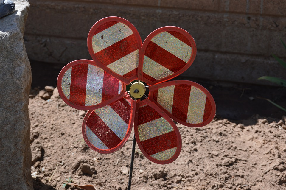 Plastic Flower, Wind-up Toy, Nature, Outdoor, Garden