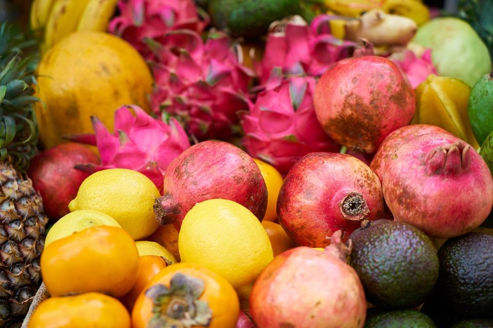 Fruit, Food, Healthy, Apple, Pomegranate, Garden