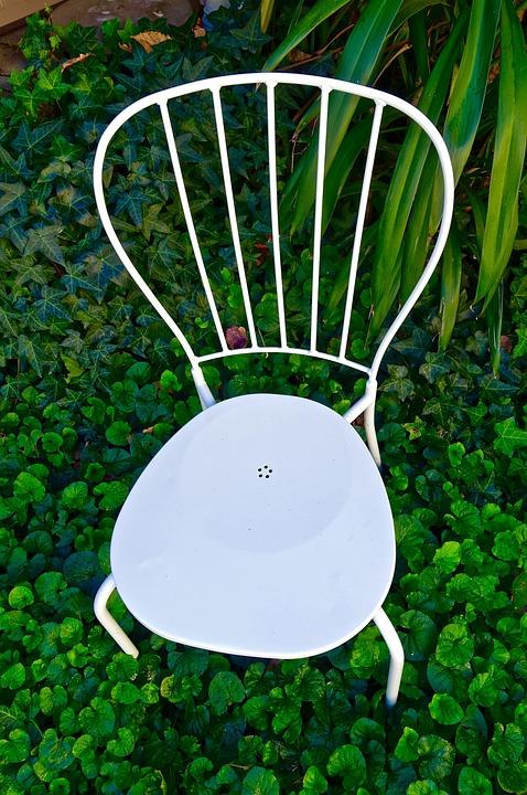 Chair, White, Garden, Quaint, Flimsy, Quiet, Relax