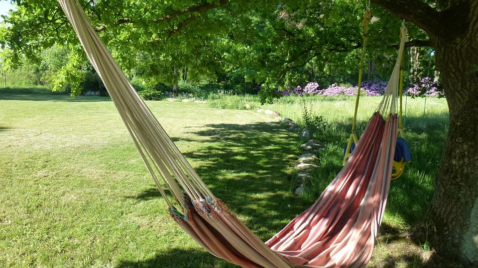 Hammock, Garden, Relax