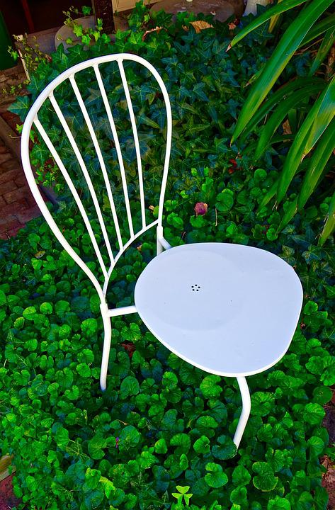 Chair, White, Garden, Quaint, Flimsy, Quiet, Relax