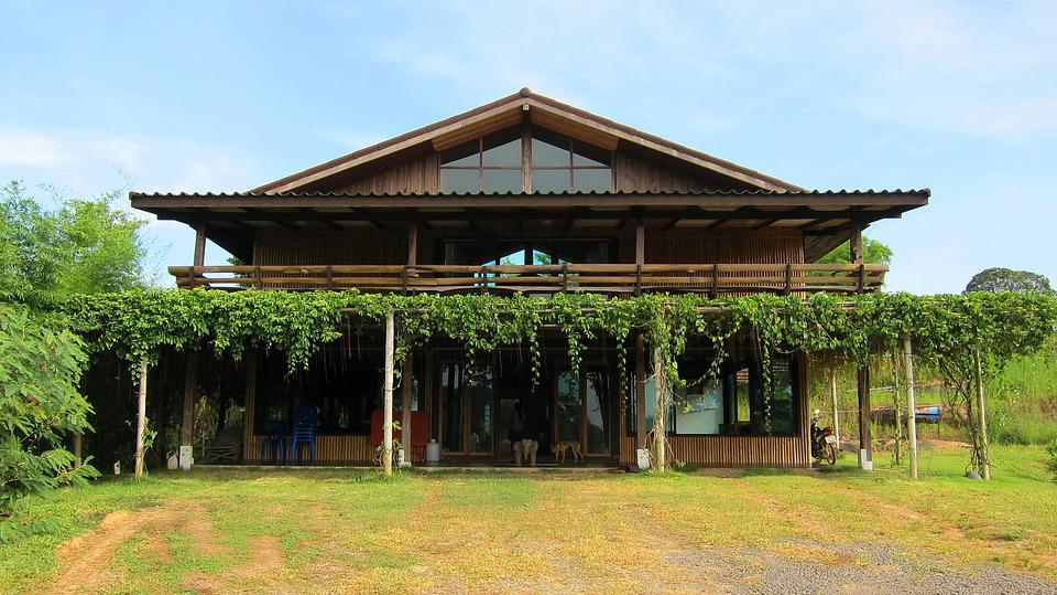 Thailand, Home, Garden, Asia, Asian, Rural