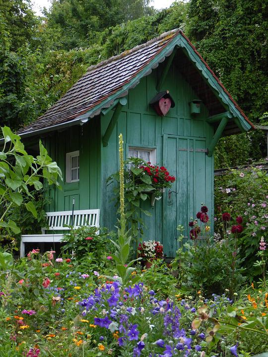 Garden, Garden Shed, Romance, Romantic, Cottage