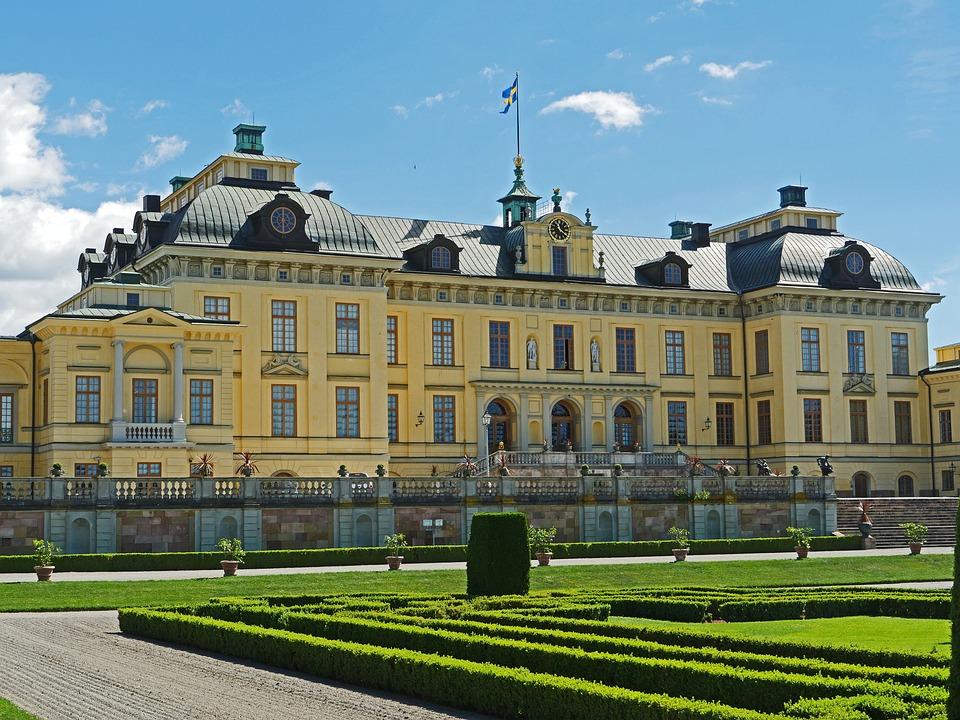 Drottningholm Palace, Main House, Garden Side, Sweden
