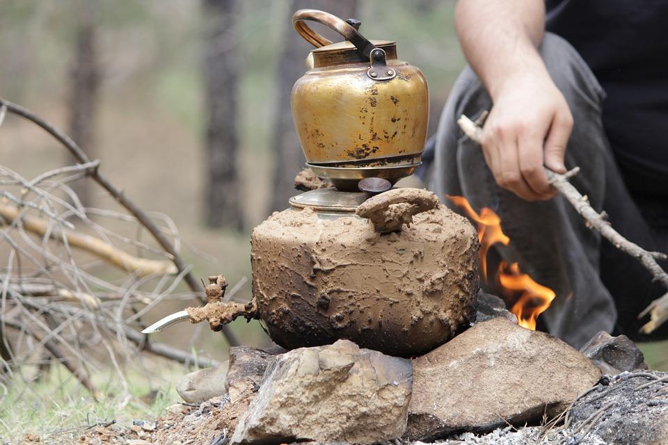 Garden, Tea, Picnic, Traditional, Fire Tea, Fire, Food