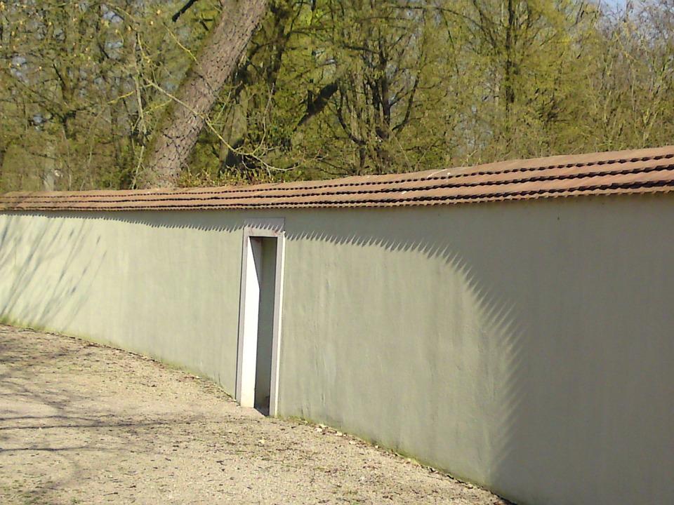 Schlossgarten, Wall, Garden, Walk
