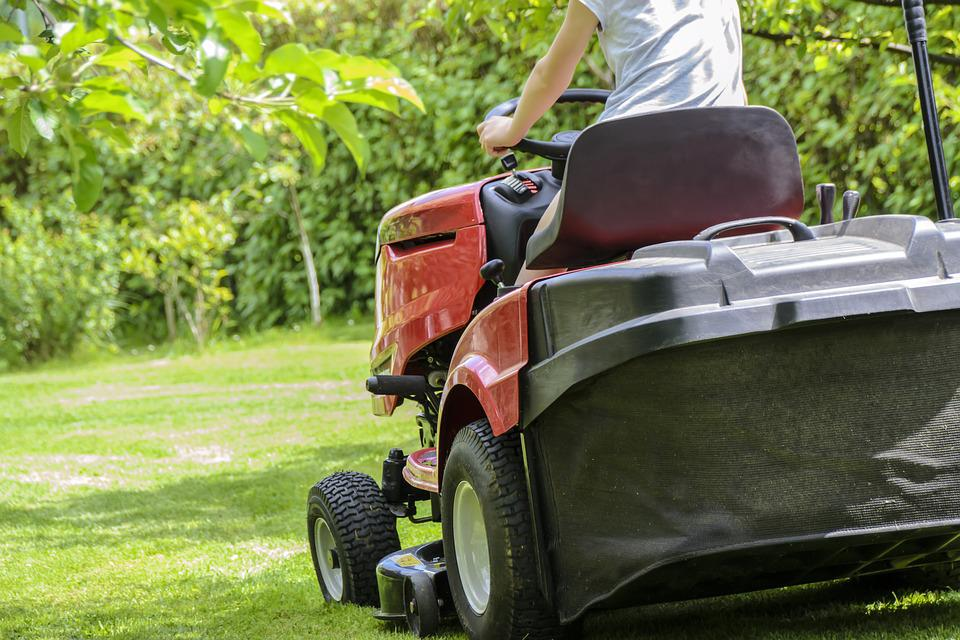 Mowing The Grass, Garden Work, Lawn, Garden, Care