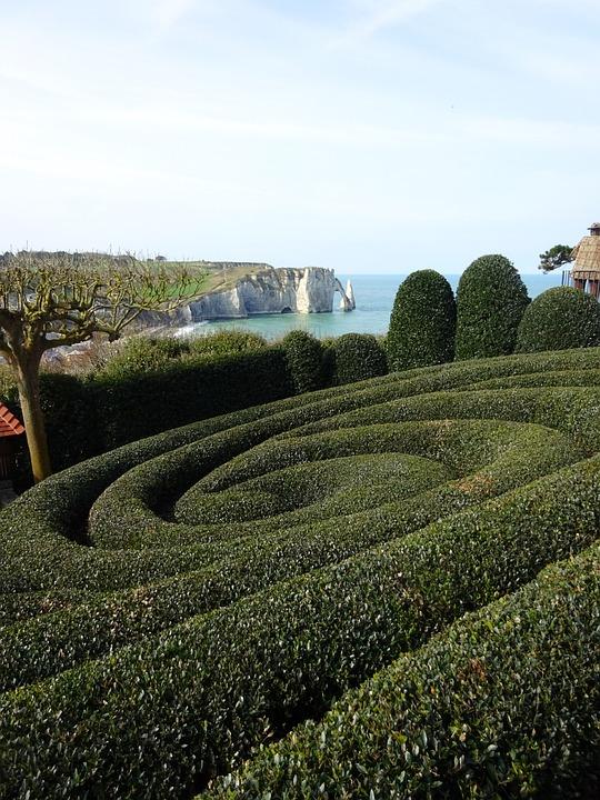 Travel, Gardens Of Etretat, Landscape, Nature