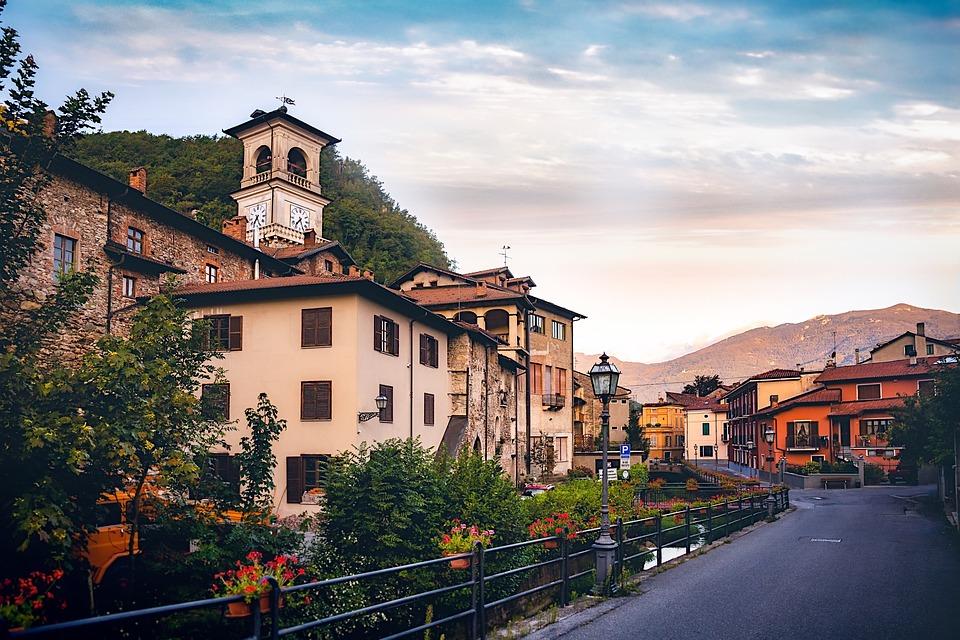 Garessio, Italy, Piedmont, Sunrise, Idyllic, Mountains