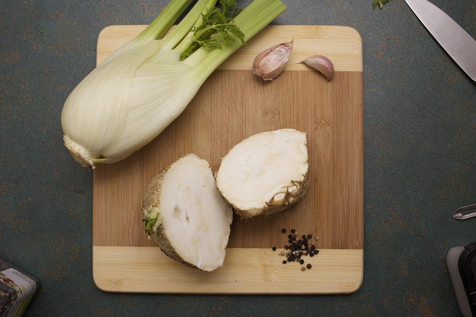 Fennel, Celeriac, Garlic, Peppercorns, Vegetable, Raw
