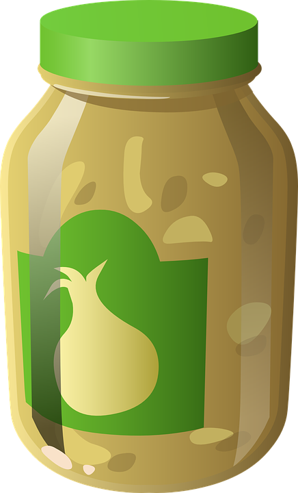 Garlic, Pickles, Jar, Bottle, Containers, Food, Herbs