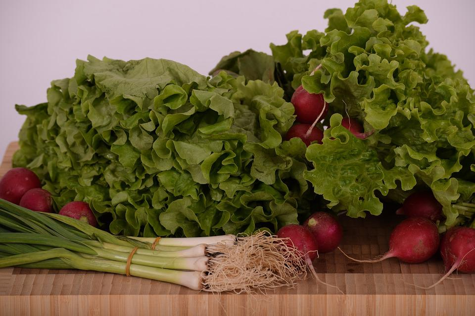 Salad, Green Salad, Green, Garlic, Radish, Fresh