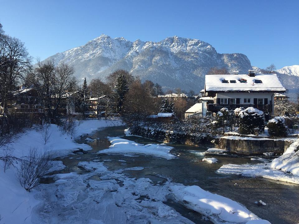 Garmisch, Partnach, View Kramer