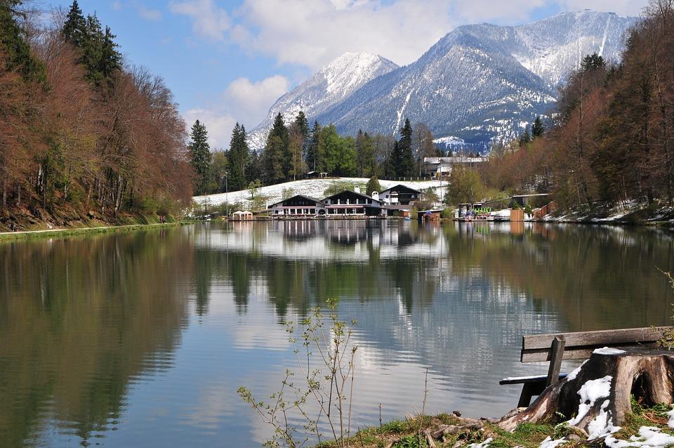 Garmisch, Riessersee, Spring