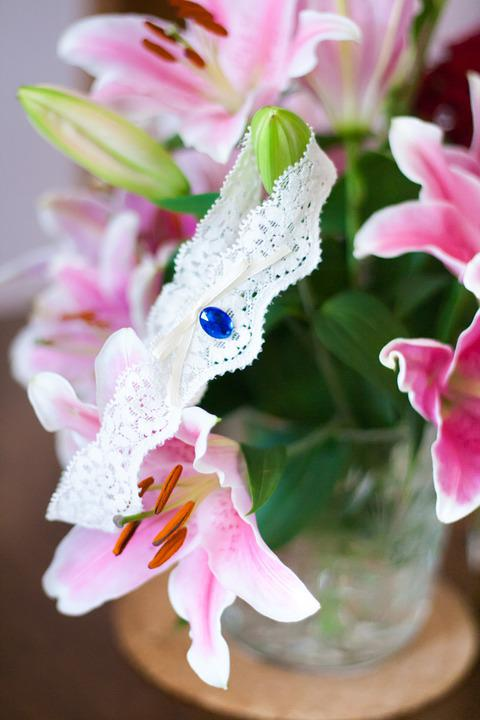 Garter, Flowers, Wedding, White