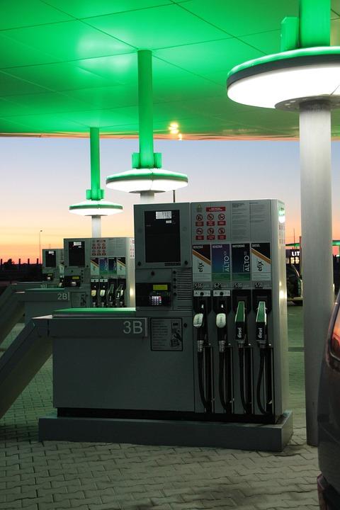 Auto, Cars, Diesel, Energy, Gas, Night, Petrol, Pumps