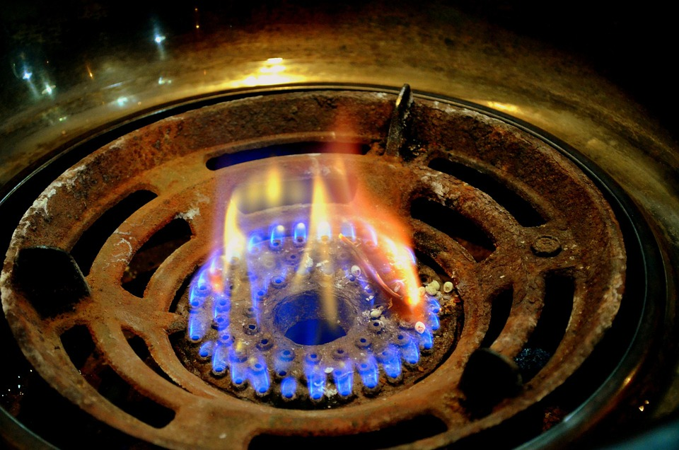 Gas Flame, Flame, Gas Burner, Fire, Cook, Cooking