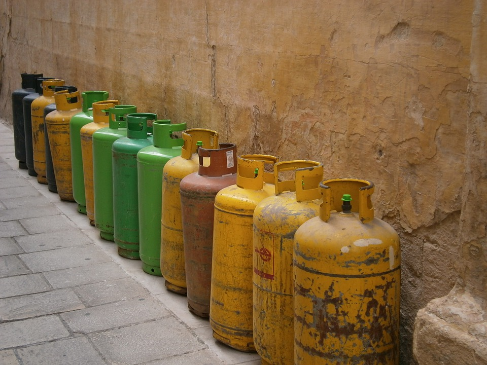 Gas Bottle, Gas, Bottle, Container, Fuel, Flammable