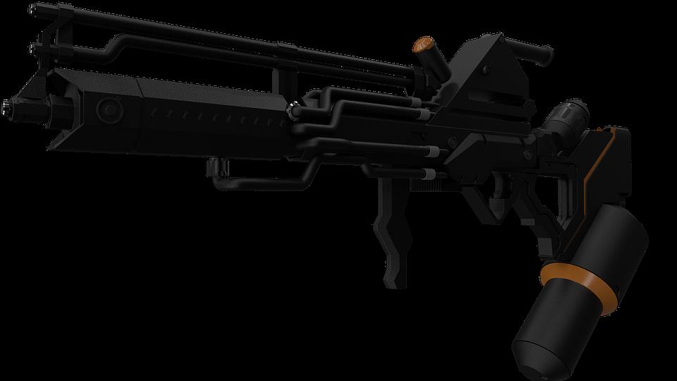District 9, Alien Weapon, Gas Thrower, Sci-fi, Gun