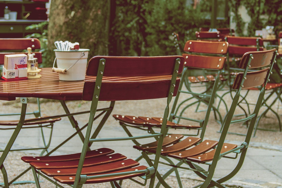 Beer Garden, Chairs, Drink, Eat, Sit, Out, Gastronomy