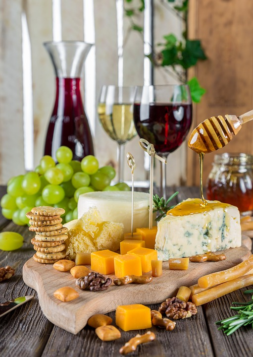Cheese, Cheese Plate, Wine, Snacks, Gastronomy