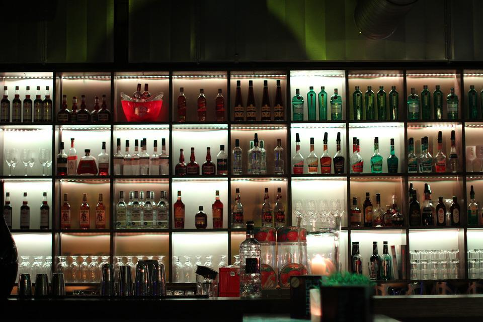 Bar, Alcohol, Wall, Gastronomy, Bottles