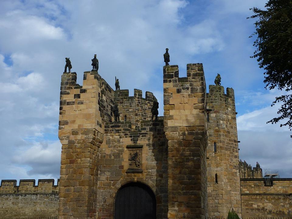 Alnwick Castle, Castle, Gate, Landmark, England