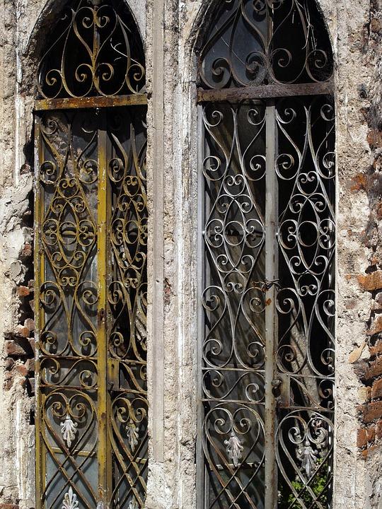 Windows, Cemetery, Grave, Gate, Graveyard, House