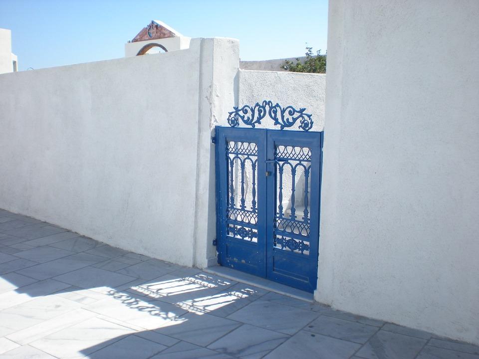 Santorini, Greek Island, Greece, Street View, Gate