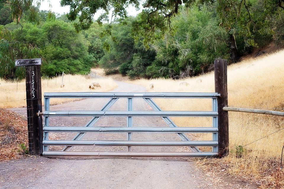 Fence Gate, Rural, Gate, Iron Gate, Country, Natural