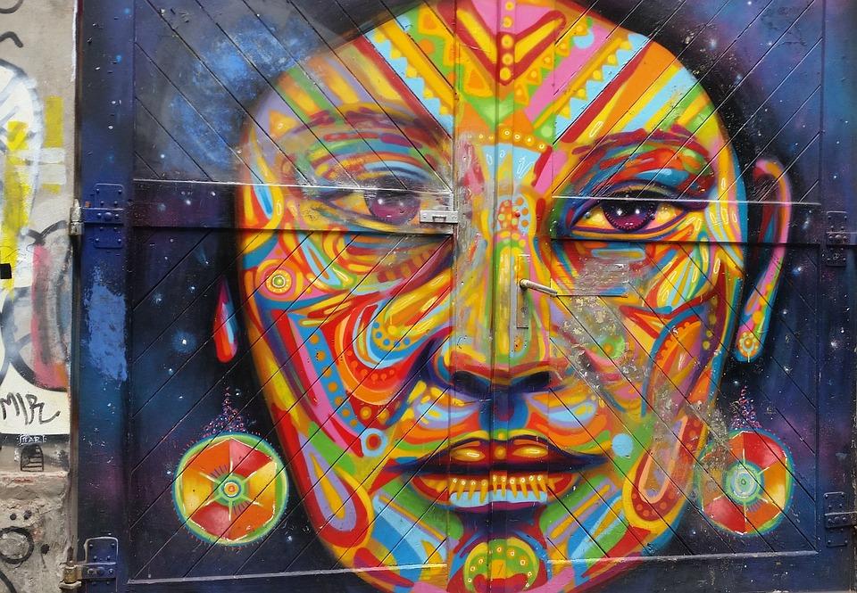 Berlin, City, Graffiti, Gate, Wall, Woman Face, Tribe