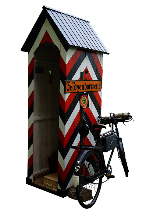 House, Bicycle, Entrance, Door, Gate-house, Army, Ww2