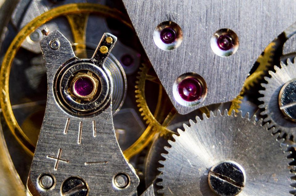 Hour S, Watch, Works, Gear, Spring, Gátkerék, Anchor