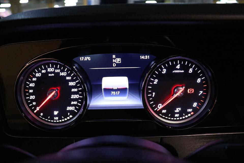 The Instrument Panel, Car, Speedometer, Odometer, Gauge