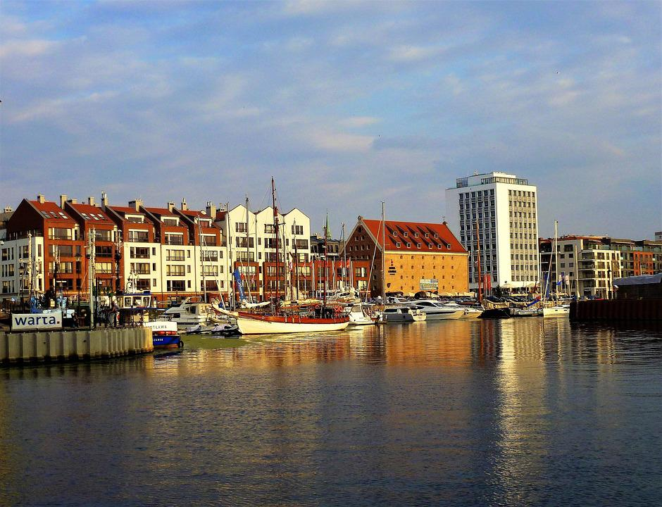 Poland, Gdansk, Sailboat, Body Of Water, City