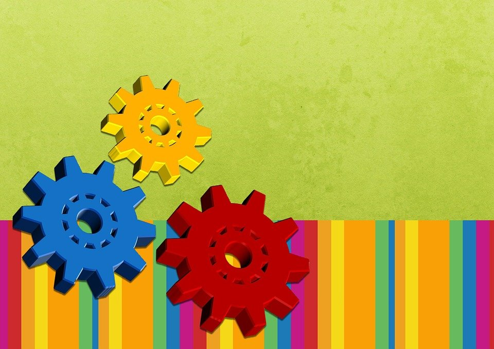 Background, Colorful, Engineering, Gears, Poster