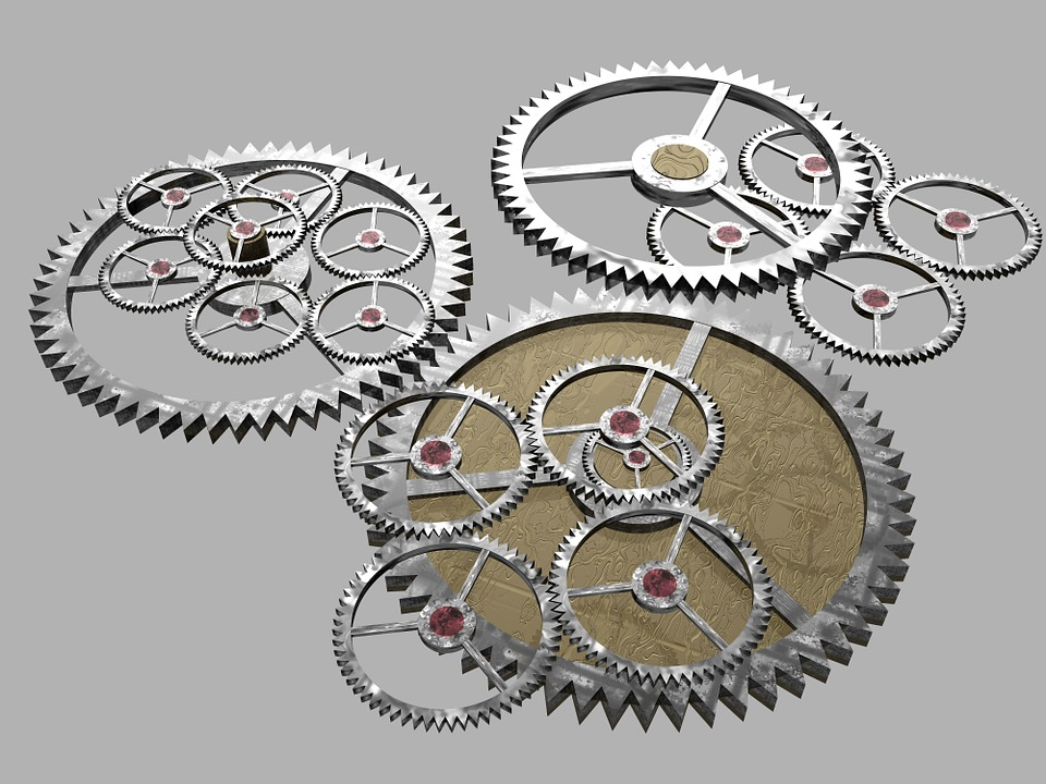 Cogs, Gears, Machine, Mechanical, Mechanism, Machinery