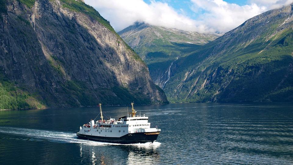 Geiranger, Fjord, Geirangerfjord, Norway, Ferry