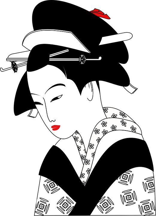 Chinese, Woman, Geisha, Traditional, Clothing, Asian