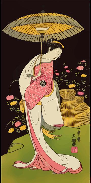 Woman, Geisha, Kimono, Umbrella, Japan, Lady, Japanese