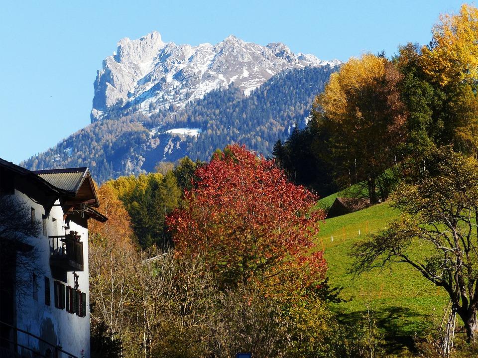 Geisler Acute, Dolomites, Autumn, Mountains