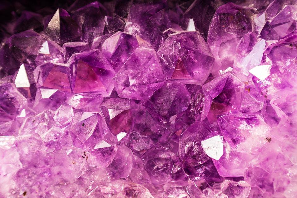 Gem, Amethyst, Semi Precious Stone, Violet, Purple