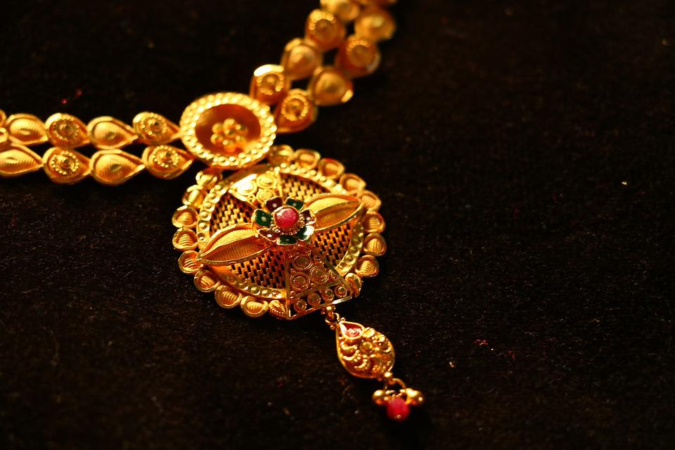Jewelry, Necklace, Gem, Gold, Luxury, Shining, Pendant