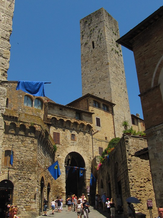 San Gimignano, Gender Tower, Tuscany, Historically
