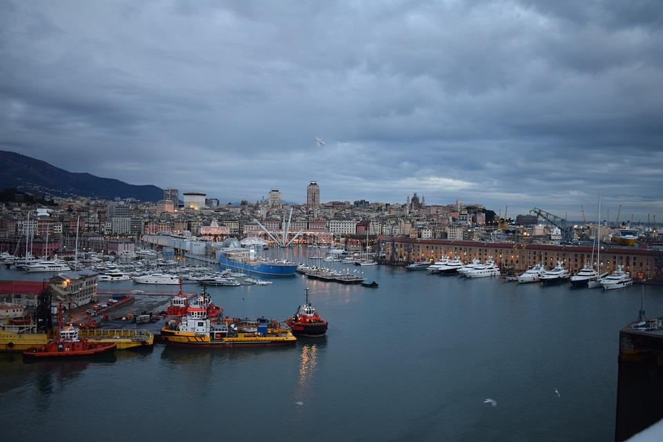 Port, Genoa, Italy, Sea, Tourism, Vacations