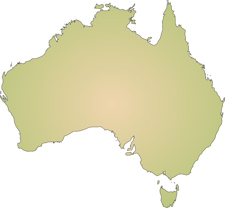 Australia, Continent, Geography, Map, Cartography