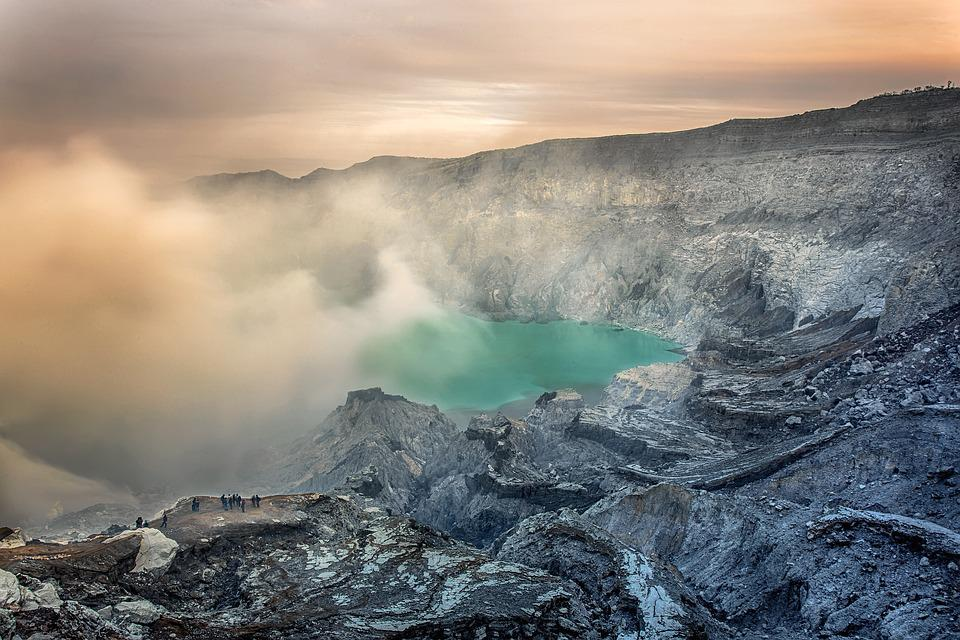Volcano, Geography, Views, Indonesian, Steam