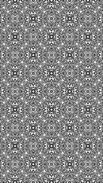 Black, White, Geometric, Background, Backdrop