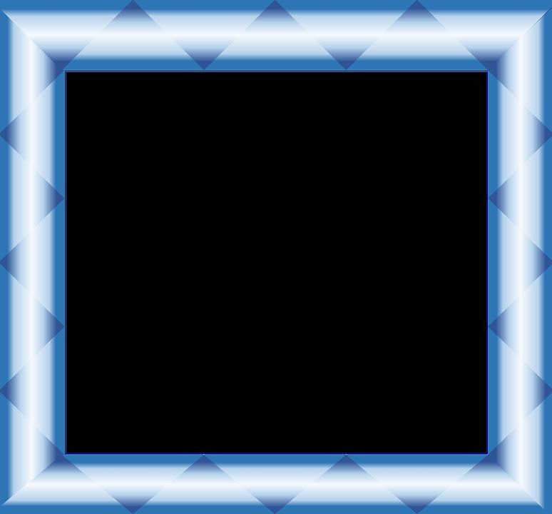 Metallic, Blue, Frame, Border, Gradient, Geometric