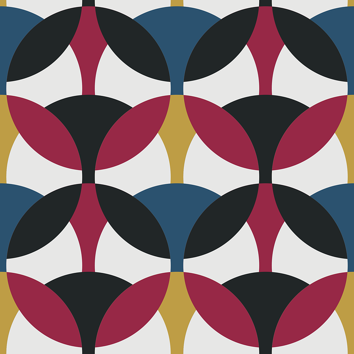 Seamless, Geometric, Retro, Pattern, Repeat, Circles